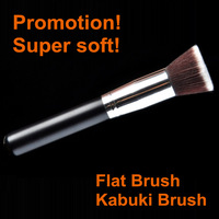 Hot Sale Professional Flat Top Kabuki Brush Synthetic Hair Black Makeup Brushes Tools Cosmetics Make Up Brush Foundation Brush