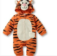 RP0011 New  Newborn romper baby romper long sleeve tiger one piece anime autumn infant clothing one piece retail  free shipping