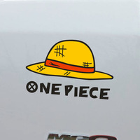 Hat car stickers pirate car stickers luffy hat personalized car sticker refective sheeting Ornament Mark paper Doll One Piece