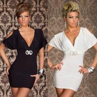 One Set Sexy Party Women Dresses Polyester Deep Bra V-Neck Hot 2014 Bandage Evening Dress Clubwear Sexy Lady Vestido j6j uwc092