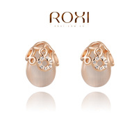 AAA Zircon Stud Earrings,Ladies fashion dinner ornaments,Ellipse Earring For Women