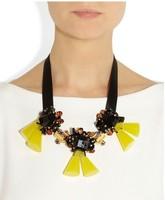 Hot sale 2014 new arrive Marni Fashion female personality decoration ribbon exaggerated yellow pendant necklace