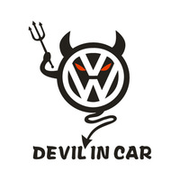 Volkswagen car stickers reflective demon volkswagen devil car sticker volkswagen refective sheeting Ornament Mark paper Doll