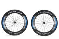 U Shape 25mm Wide 88mm Carbon Wheelset Clincher Road Bicycle Bike Wheel + Ceramic Bearings + Sapim Spokes + Straight Pull Hubs