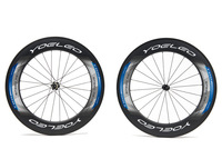U Shape 25mm Wide 88mm Carbon Wheelset Clincher Road Bicycle Bike Wheel + Ceramic Bearings + Sapim Spokes + Straight Pull Hubs