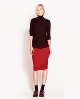 2014 New Woman MIDI PENCIL Skirt with Elastic Waist SK1037-O02