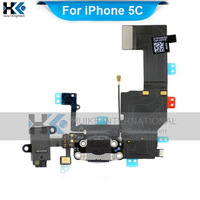 For iPhone 5C Charger Port Dock Connector Flex Cable Replacement Spare Parts Free Shipping