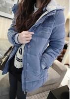 Winter medium-long slim down cotton-padded jacket outerwear female
