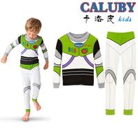 6set/lot Children Baby New Cotton Long Sleeve Cartoon Pajamas Girl Boys Sleepwear Kids Buzz Lightyear pyjamas clothes set XC-330