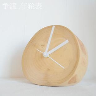 wood clock rustic sweet freeshipping(China (Mainland))