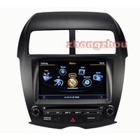 Free Shipping A8 Dual Core MITSUBISHI ASX GPS DVD Audio Player 1GB CPU 512M DDR V-20 3-ZONE RDS BT DVR 3G WIFI 1080P MITSUBISHI