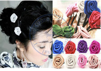 roses silk fashion multi color option hair clips hairpins Accessories decor Lady girl's CN post