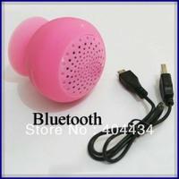 mini bluetooth mp3 mp4 speakers wireless handfree mushroom waterproof silicon suction cup loudspeaker 150pcs