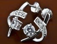 Women's  Genuine Sterling Silver Jewelry 100% Pure 925 Silver Earrings Girl's Fashion GNE0225