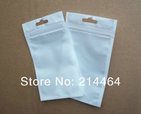 clea/ white pearly versatile package storage packing bag retail Zipper Package plastic top Hang Hole Poly PP OPP bag