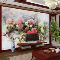 Luxury Embossed Papel Parede 3d European Wallpapers mural wallpaper sofa tv