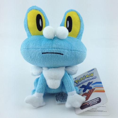18cm small size cute anime figures Japan pokemon Froakie plush dolls stuffed animal toys blue frog holiday gift 10 pcs(China (Mainland))