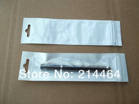 4x14.5cm white pearly  package bag retail Package Zipper plastic Hang Hole Poly PP OPP stylus pen packing bag