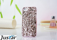 For iPhone5c Case Metal PC Tinfoil 3D Cover Brand Marc Fashion Holding 6 Colors For iPhone5c For Apple skin