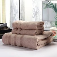 3 Pieces a Set  one bath towel and 2 face towel Thicken Gift  Set of Three Pieces Set Bamboo Fiber Bath Towel