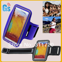 DHL Free Shipping Sports Jogging Gym Sweatproof Belt Armband Case For  Samsung Galaxy Note 3 N9000 N9002 N9005