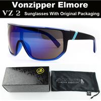 Sport cycling mens sunglasses Vonzipper Elmore brand Hot sale! new 2014 VZ coating women sunglass windproof designers packages