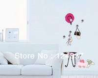 Fashion False coat shoes Wall Sticker Fashion girl Stickers Art Mural Home Decoration PVC Poster Decals For Wall Wholesale