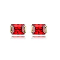 Cubic Zircon Stud Earrings Punk Accessories Charm Jewelry For Women 18K Gold Plated Classic Luxury Bride Fashion CZ Diamond