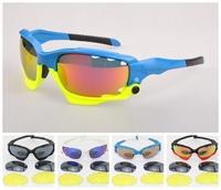 Sports Sunglasses   Jawbone Racing Cycling Bicycle Outdoor Sports Sun Glasses Eyewear 3 pairs lens