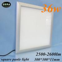 5pcs 36W Led panel light  300*300mm utral thin 230v 36w square  led recessed ceiling down light 85-265v kitchen free shiping