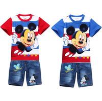 Conjunto de roupa Sports Suit Summer Cotton Striped  t shirt + Kids Pants Baby Boy Clothes Baby Clothing Set Kids Clothes Sets