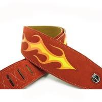 Leeway guitar suspenders bass suspenders suede genuine leather flame f-p212 widening  free ship