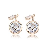 Cubic Zircon Stud Earrings Fashion Brand  CZ Diamond  Charm Jewelry  Women's Earring 18K Gold Plated Bijouterie