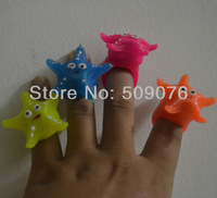 Free shipping 50pcs/lot soft flicker  led finger ring  led starfish ring finger ring lights for kids birthday party supplies
