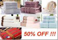 3pcs 100% Cotton  Bath Towel Set luxury brand towel cheap beach towels serviette cotton
