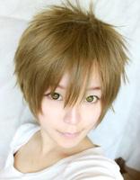 Tea Brown Tachibana Makoto Short Cosplay Anime Wig Free Shipping