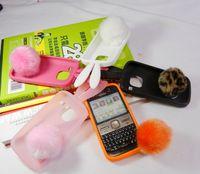 For nokia   e5 rabbit ear mobile phone rabbit protective case shell rabbit hair ball