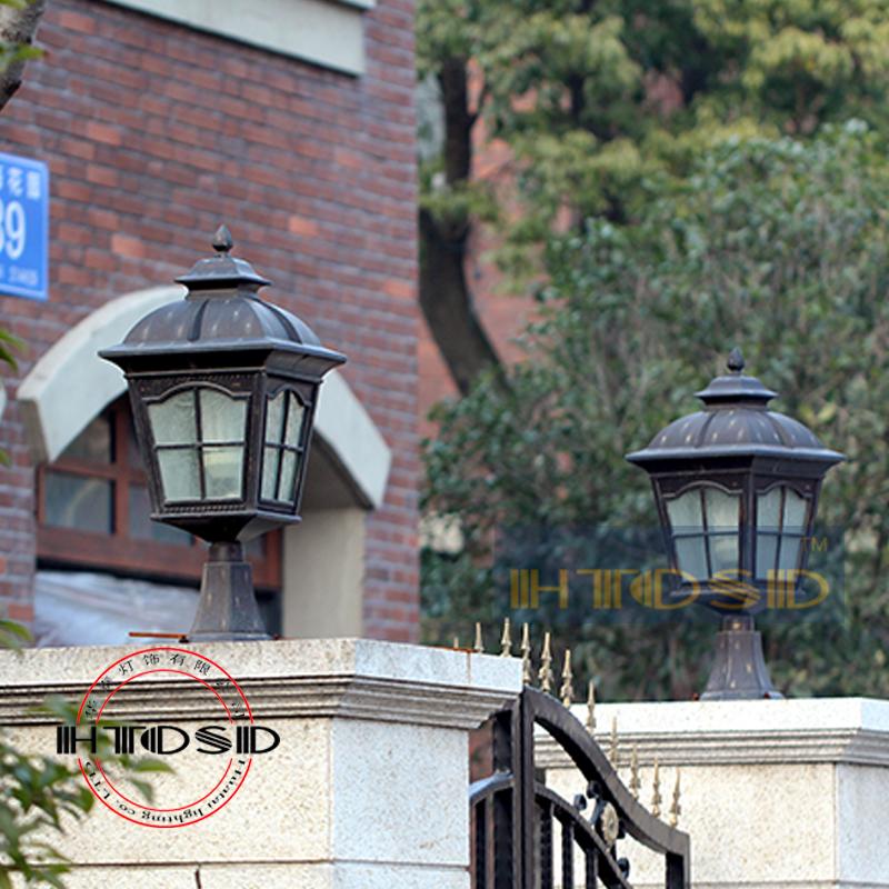 Outdoor fashion column head wall light wall light square outdoor lights the door pillar lamps(China (Mainland))