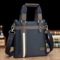 2014 New Men's Oxford cloth luxury waterproof leathe handbag shoulder bag business messager bag bolsa hombres sacs free shipping