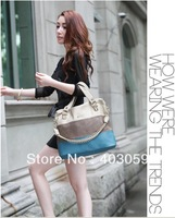 OPPO 2013 fashion color match designers handbags high quality shoulder for woman  PU  totes Shoulder bags