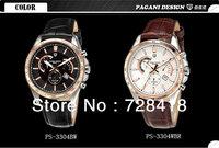 HK Free Shipping Brand New Luxury Pagani Design Business casual sports chronograph fashion calendar luminous belt men's watches