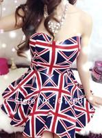 Irregular sweep plaid dress knee sleeveless 3 fashion pattern cute sweet fashionable free shipping good quality