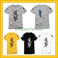 Free Shipping O-Neck Attack On Titan Fashion Cotton Tshirt,0.6kg/pc