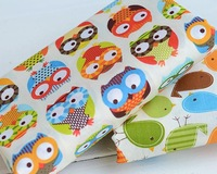 NEW Hot 150cm wide 5 meters 100% cotton colorful owl home textile bedding quilt fabric sewing material For kids