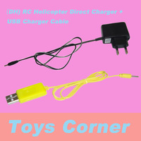 WholeSale&FreeShipping DONGHUANG(DH) RC Helicopter Series Direct Charger + USB Charger Cable Spare Parts
