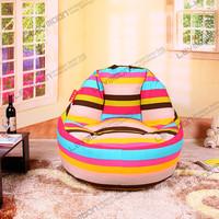 FREE SHIPPING bean bag chair pattern 100CM diameter bean bag chairs coffee 100% cotton canvas extra large bean bag chairs