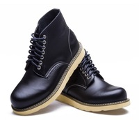 3Color 2014 Arrival Man Brand New Fashion Boots Shoes Genuine Leather Lace Up Men Outdoor Casual Martin Boots Shoes High Quality