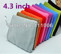 Lowest price!! 4.3 Inch Soft Microfiber Sleeve Pouch Bag Case for iphone 4s 5s 5c,4.3inch Device,50pcs/lot Free shipping