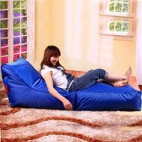 FREE SHIPPING blue bean bag  no filling bean bags chairs PU  bean bag cover tutorial
