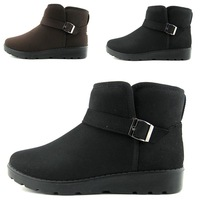 Women's shoes  snow boots Adult  lady's fashion  female wedges warm shoes  3012  large big size 39 40 41 42 43
